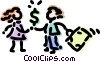 Vector Clipart image  of a Financial Concepts