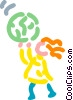 Children and Sports Vector Clipart graphic