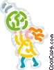 Vector Clipart illustration  of a Children and Sports