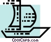 Vector Clipart illustration  of a Sailboats