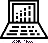 Vector Clip Art image  of a Laptops and Notebook Computers