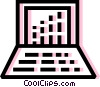 Laptops and Notebook Computers Vector Clipart illustration
