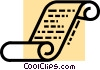 Vector Clip Art graphic  of a Scrolls and Parchment