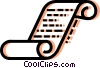 Vector Clipart picture  of a Scrolls and Parchment
