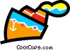 Vector Clip Art image  of a Cruise Ships and Ocean Liners
