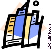 Vector Clip Art graphic  of a Office Buildings