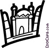 Vector Clipart picture  of a International Buildings