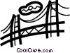 Vector Clip Art picture  of a Golden Gate Bridge