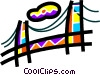 Golden Gate Bridge Vector Clip Art graphic