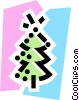 Christmas Trees Vector Clipart graphic