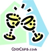 Vector Clipart picture  of a Champagne