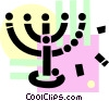 Vector Clip Art image  of a Rabbi