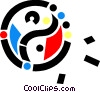 Vector Clipart graphic  of a Yin & Yang