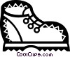 Vector Clip Art image  of a Hiking Boots