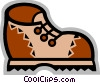 Vector Clip Art graphic  of a Hiking Boots