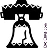 Vector Clip Art graphic  of a Liberty Bell