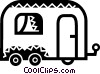 Vector Clipart graphic  of a Camp Trailers