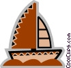 Sailboats Vector Clipart illustration