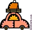 Vector Clip Art picture  of a Family Cars