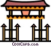 Vector Clipart illustration  of a Temples