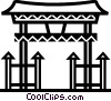 Vector Clip Art graphic  of a Temples