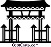 Vector Clip Art picture  of a Temples