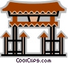 Temples Vector Clip Art graphic