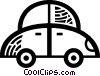 Vector Clip Art image  of a Family Cars