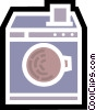 Vector Clip Art picture  of a Washing Machines