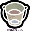 Vector Clipart illustration  of a Buckets and Pails