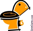 Vector Clipart graphic  of a Toilets