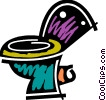 Toilets Vector Clip Art graphic