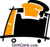 Vector Clip Art graphic  of a Toasters