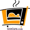 Vector Clipart illustration  of a Electric Ovens
