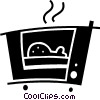 Vector Clip Art picture  of a Electric Ovens