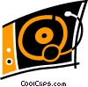 Contemporary Record Players Vector Clip Art image
