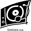 Contemporary Record Players Vector Clip Art graphic