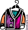 Coats and Jackets Vector Clipart illustration