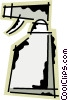 Vector Clipart image  of a Plastic Spray Bottles
