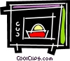 Microwave Oven Vector Clipart picture