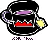 Vector Clipart graphic  of a Teacups