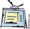 Vector Clipart graphic  of a Televisions