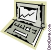 Vector Clip Art graphic  of a Laptops and Notebook Computers