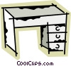 Vector Clipart graphic  of a Work desks