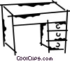 Work desks Vector Clipart illustration