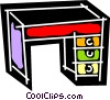 Vector Clip Art image  of a Work desks