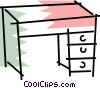 Work desks Vector Clip Art graphic