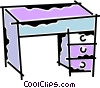 Vector Clipart image  of a Work desks