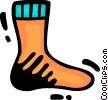 Vector Clip Art image  of a Socks