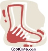 Vector Clip Art graphic  of a Socks